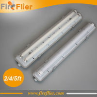 6pcs/lot IP65 2ft 4ft 5ft double led tubes lighting fixture 2*9w 0.6m 600mm 1200mm waterproof tubes G13 base twin tube lamp