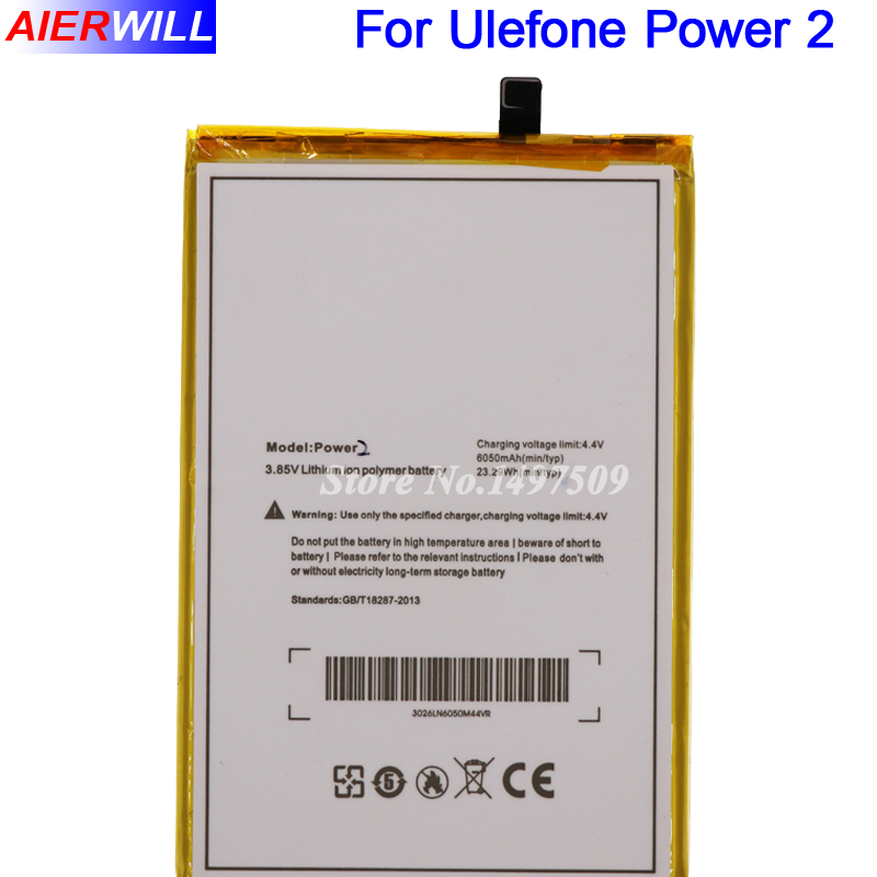 For Ulefone Power 2 Battery Batterie Bateria for Ulefone Power II Phone 5.5Inch MTK6750T Octa Core Android 7.0 6050mAh