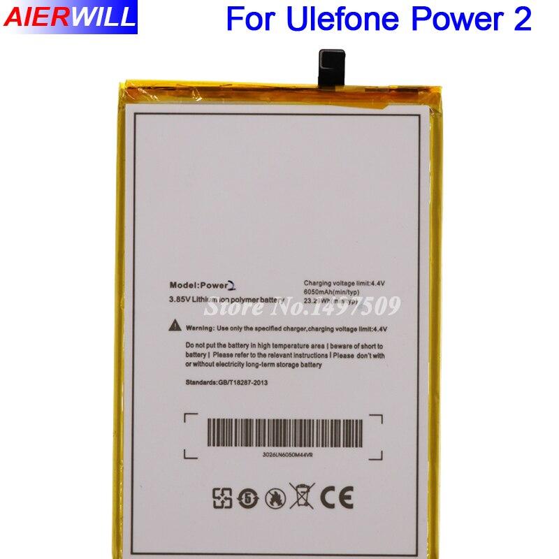 Pour Ulefone Puissance 2 Batterie Batterie Bateria pour Ulefone Puissance II Téléphone 5.5 Pouces MTK6750T Octa base Android 7.0 6050 mAh