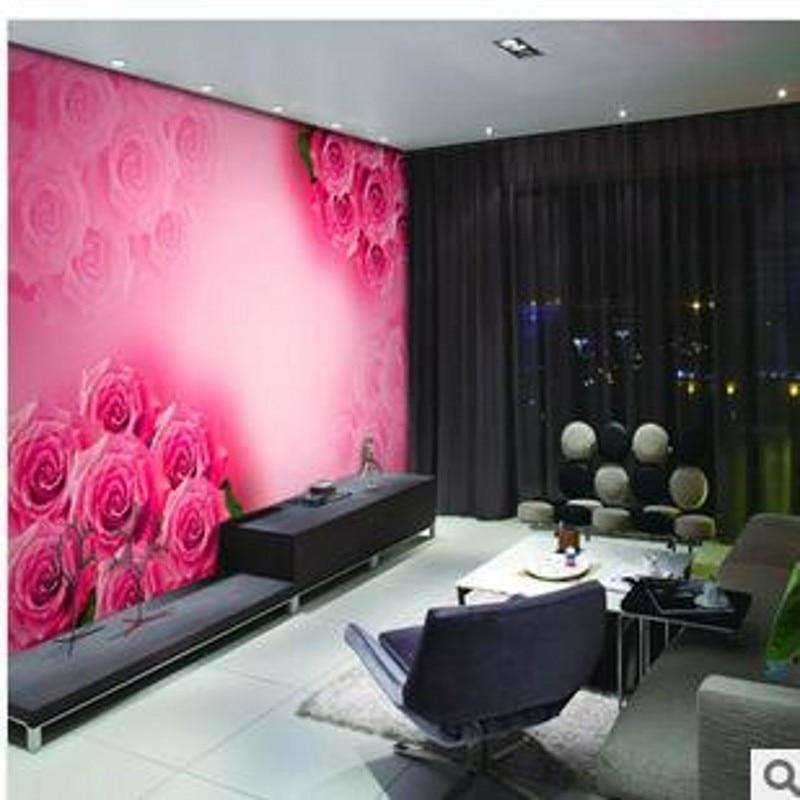 beibehang groes wohnzimmer tapete mural schlafzimmer tv hintergrund tapete romantische hochzeitszimmer rote rosen tapetechina - Rosentapete Schlafzimmer