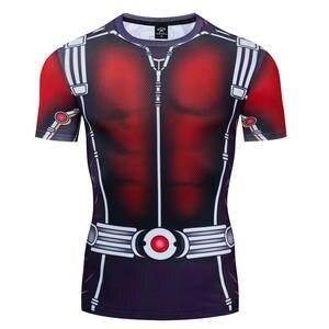 T-Shirts Men Costume-Sleeve Compression-Shirt Iron Man Print for Male Avengers 4-Endgame