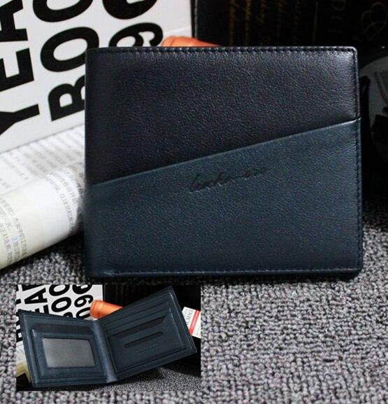 100% Genuine Leather Men Designer Patchwork Wallets Famous Brand Mens Wallet Man Fashion Purse With Credit Bank Card Holders