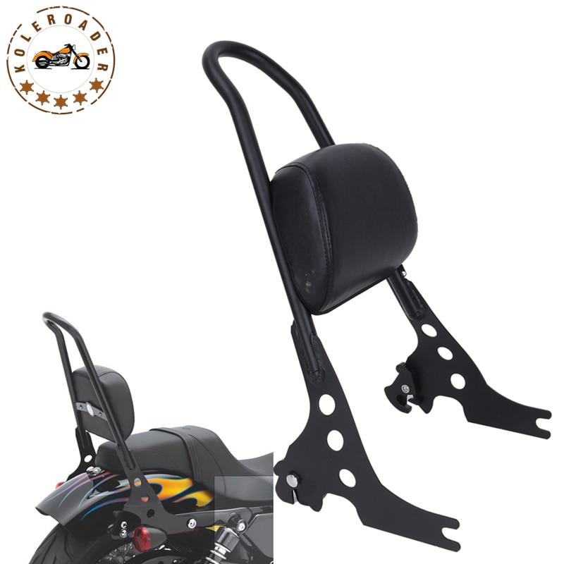 Мотоцикла багажная сетка Сисси бар задний пассажир спинки Подушка Pad для Harley Спортстер 883 1200 XLH размер XL 883C 883R 1200р MB315