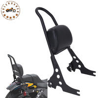 Motorcycle Bike Detachable Sissy Bar Cushion Passenger Backrest Back Rest Luggage Rack For Harley Sportster XL