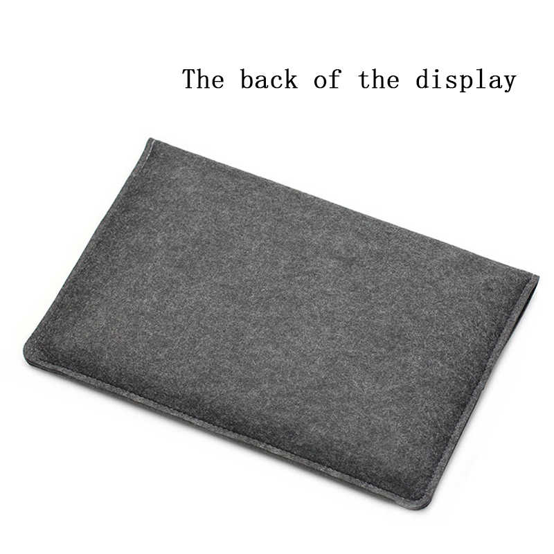 Ince Yün Keçe Kol Laptop macbook çantası hava 13 2018 2019 Kılıf Pro Retina 11 12 14 15 Kılıfları Xiaomi Hava 12.5 13.3 15.6 Kapak