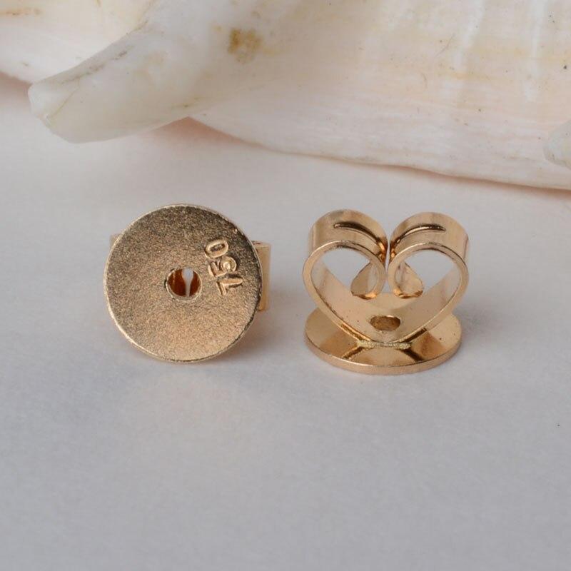 24 Sterling Silver Earring Backs Jewelry Ear Nut 5mm