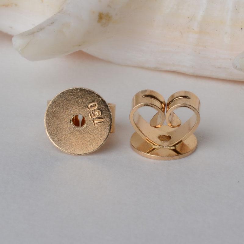 Boucles d'oreilles en or 18 k 5mm, boucles d'oreilles en or 18 carats pour bijoux bricolage, fournitures d'accessoires, AU750