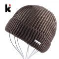 2017 Winter Mens Beanie Hat Bonnet Knitted Hat Plus Velvet Cap Skullies Thicker Touca Fringe Beanies For Men Keep Warm Caps