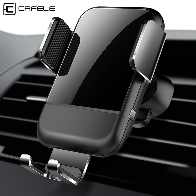 CAFELE Car Phone Holder With Wireless Charging Car Holder for Air Vent Mount Automatic Adsorption Universal Holder mobile phone car vent holder