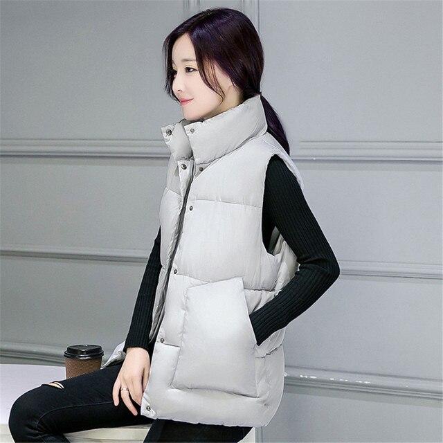 Cotton feather waistcoat couture autumn and winter 2016 short fashion vest joker pure color collar tank top coat
