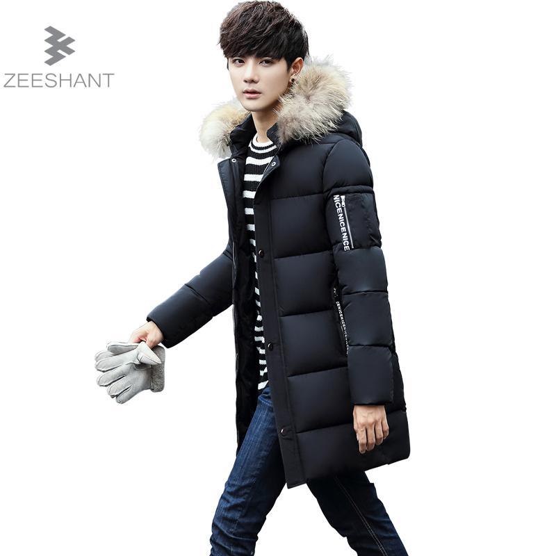 Zeeshant Brand 2017 New Winter Coats Men Badge Pattern Parkas Fashion Streetwear Warm Clothing in Men's Parkas XXL мужской пуховик brand new m 3xl men warm coats