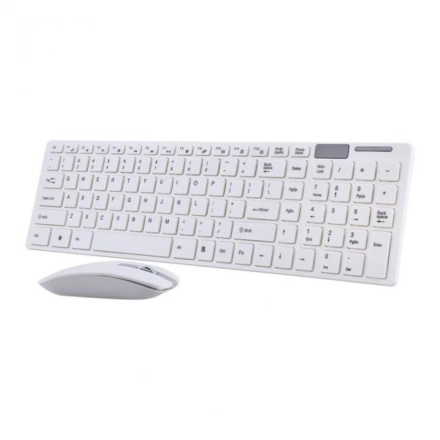 VBESTLIFE 2.4G Slim Optical Wireless Keyboard and Ultra-Thin Mouse Mice USB Receiver Combo Kit for MAC PC Computer