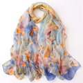 Super Thin Imitation Silk Scarf Women Chiffon Scarves Winter Ladies Shawls Long Autumn Echarpes Foulards Femme 180*100cm