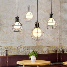 JAXLONG Pendant Lights Country Retro Industrial Wind Bar Restaurant Lamp Decor Dining Room Single-head Kitchen