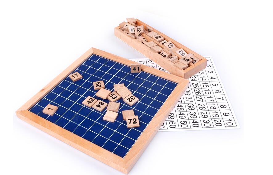 1-100 tableau en bois numérique Montessori jouets mathématiques Montessori matériaux jouets éducatifs pour enfants tableau numérique Figure blocs jouet - 2