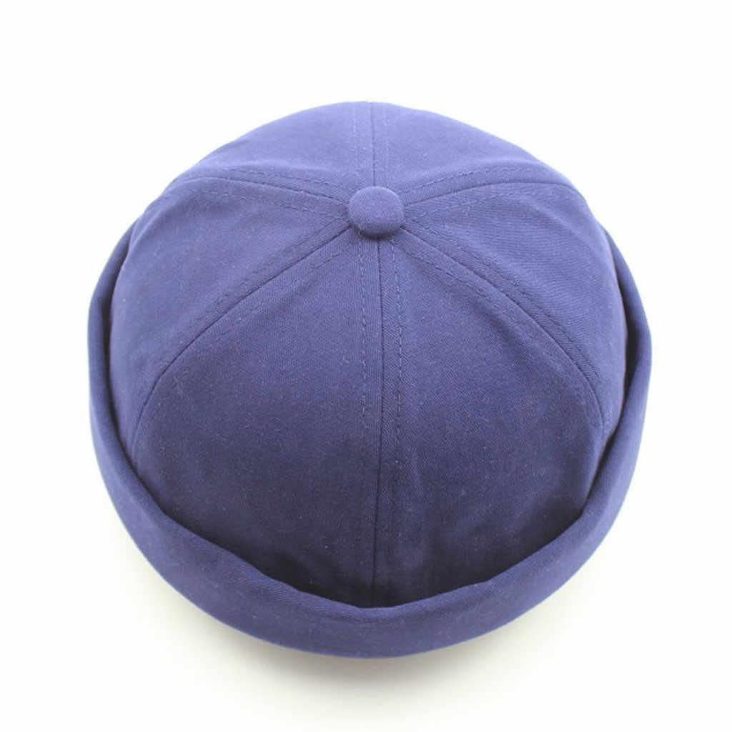 Feitong 2019 قبعة النساء الرجال النساء قبعة قبعة عادية دوكر البحارة ميكانيكي Brimless بلون واحد
