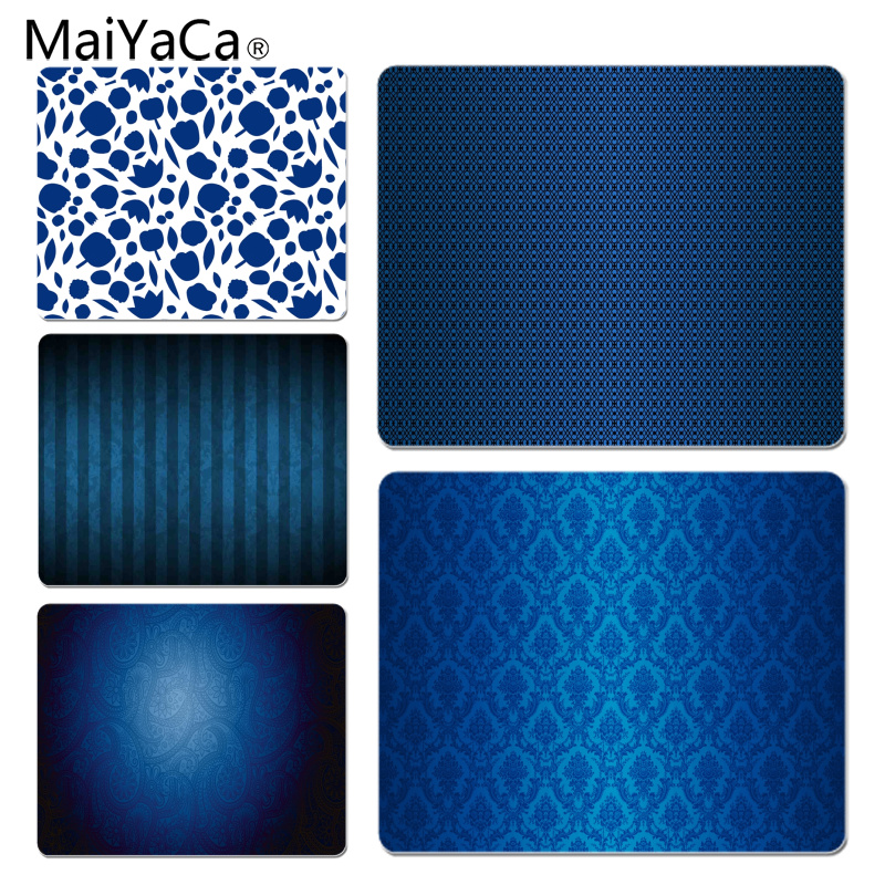 MaiYaCa Custom Skin Blue Pattern Customized laptop Gaming mouse pad Size for 18x22cm 25x29cm Rubber Mousemats