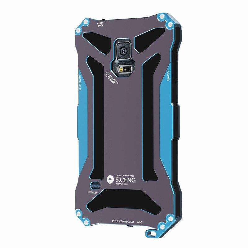 bilder für 2016 hohe Qualität Wasserdichte Anti Staub Frost Tauchen Aluminium Metall Mit Gorilla Glas Fall-abdeckung für Samsung Galaxy S5 S6 Hinweis 4