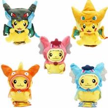 Baby Plush Toys Pikachu Cosplay Mega Charizard gyrados Stuffed Animal Dolls Children Cartoon Pocket Monster kids As Gift