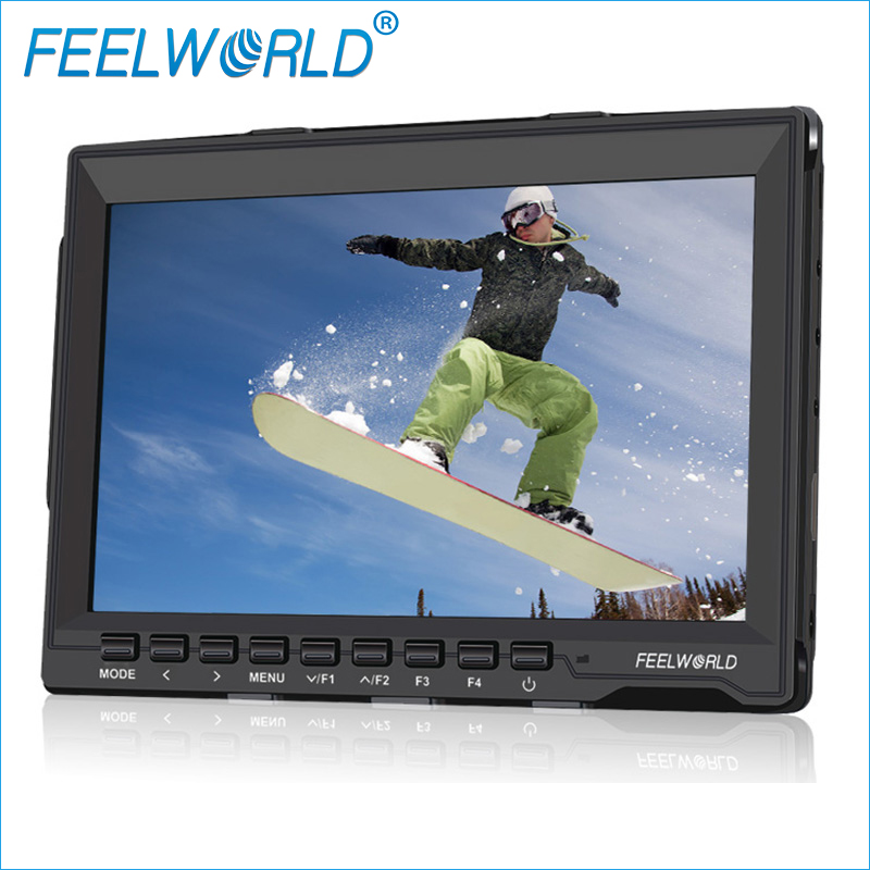 FW759 7 Inch Field Monitor with Peaking Focus HDMI Feelworld 7inch IPS LCD Photo Studio DSLR Camera Accessories Monitors aputure vs 5 7 inch sdi hdmi camera field monitor with rgb waveform vectorscope histogram zebra false color to better monitor