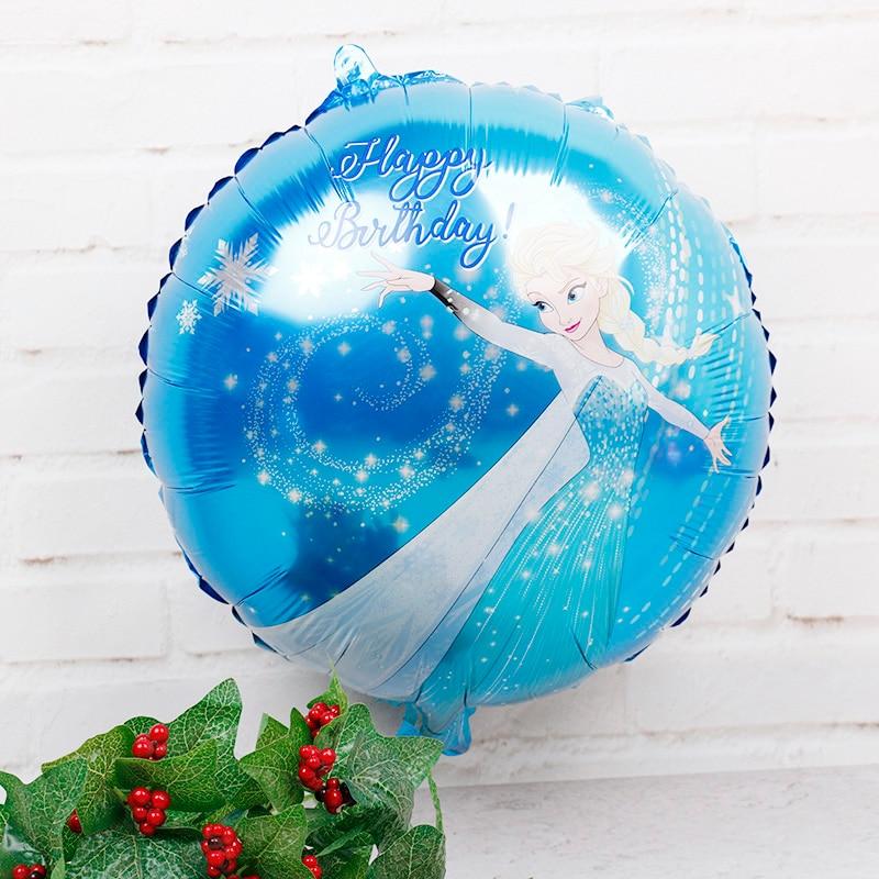 30pcs 18inch Elsa Frozen Princess Foil Balloons Baby Shower