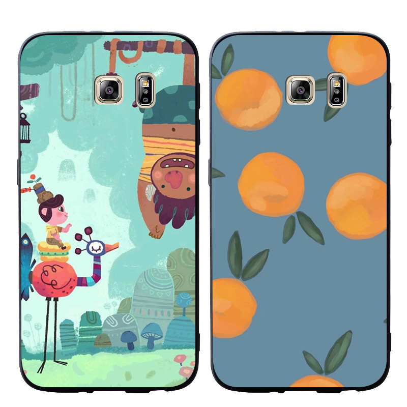 Cartoon orange monkey Phone Cases Cover For Samsung Galaxy S10 e S9 S8 S7 S6 Edge Plus Soft case
