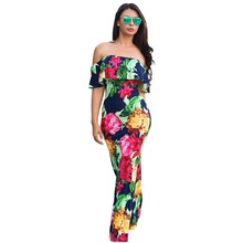 New 2018 summer dress fashion bohemian beach sexy little fresh lotus leaf strapless shoulder 8 color new