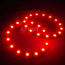 2x 12V 60MM 15 LED 3528 chip SMD Car Angel Eyes Bright Red Ring Light New