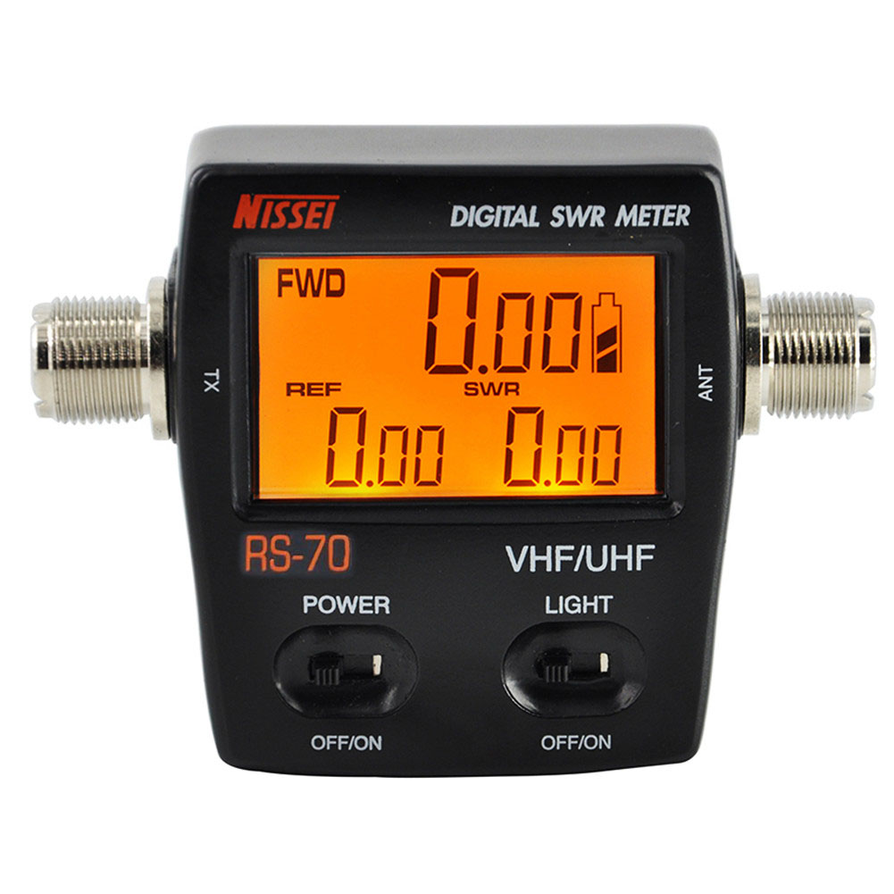 NISSEI RS 70 Digital SWR Power Counter 1 6 60MHz 200W M Type Connector