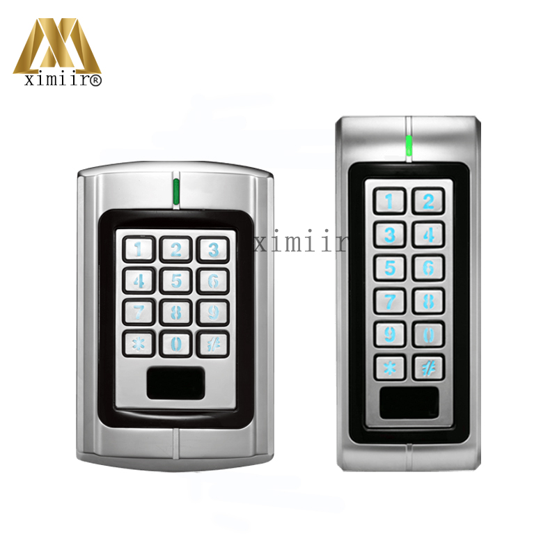 IP65 Waterproof Standalone Access Controller With Metal Keypad ZK Access Control 13.56MHz IC Door Lock Access Control System metal rfid em card reader ip68 waterproof metal standalone door lock access control system with keypad 2000 card users capacity