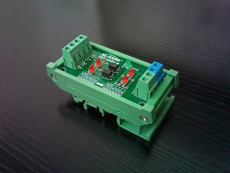 цена на 2 Way Optocoupler Isolation Board PLC Signal Level Voltage Conversion Board 1.8V 3.3V 5V 12V 24V