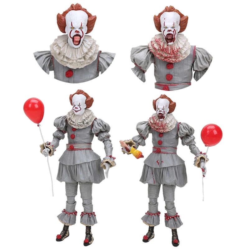 NECA de Stephen King é 2018 Ultimate BJD Horror palhaço palhaço Pennywise PVC Action Figure Collectible Modelo Toy Presente de Natal