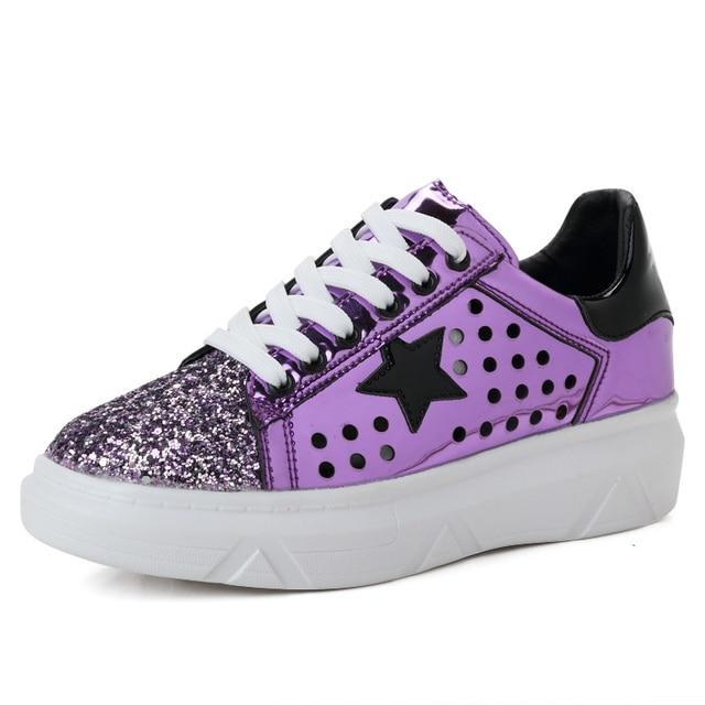 Кроссовки для Новинки для женщин список Для женщин Скейтбординг Обувь На Шнуровке тенденция Женская обувь на плоской подошве анти-скользкие удобная спортивная обувь
