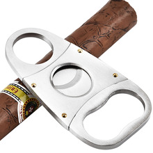 FOCUS Stainless Steel Guillotine Double Blade Cigar Cutter M