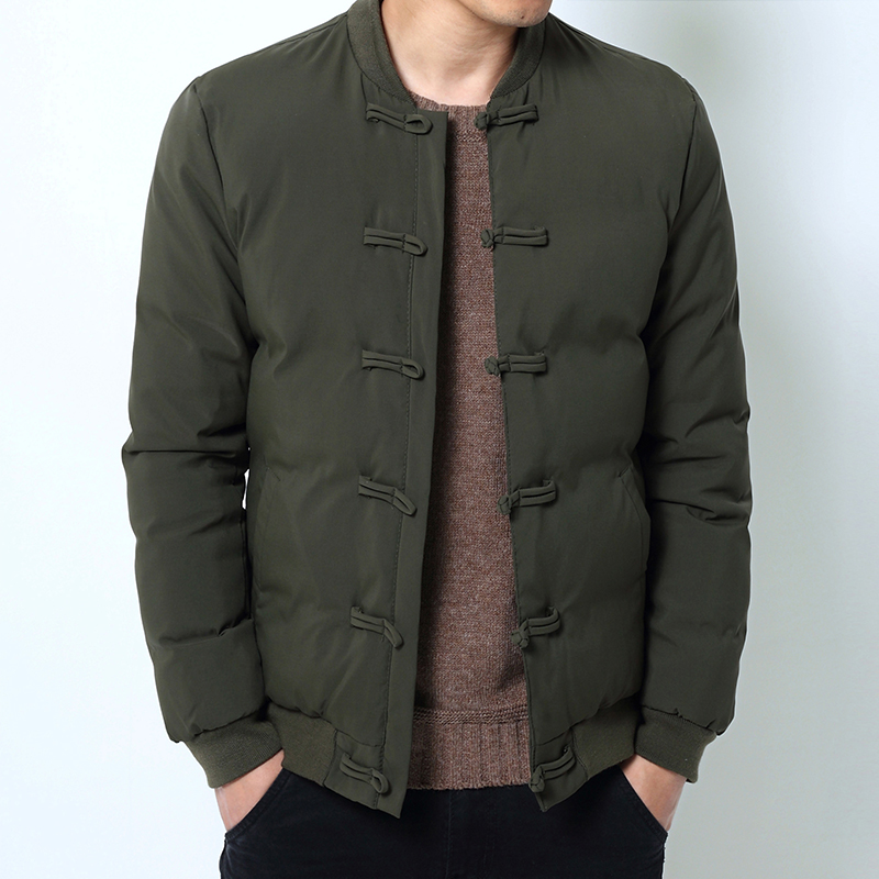 Drop Shipping New Men Winter Jackets Chinese Style Casual Slim Fit Man   Parkas   outwear S-4XL NXP02
