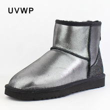 d37a5db3b6bc6 Hot Sale Best Quality Women Snow Boots Warm Winter Boots Genuine Sheepskin  Leather 100% Natural