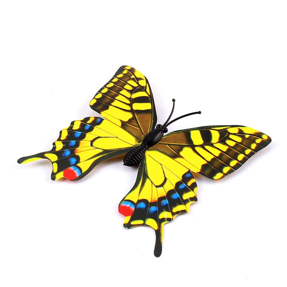 12pcs/lot Xmas Refrigerator Magnet Butterflies Sticker DIY Butterfly ...