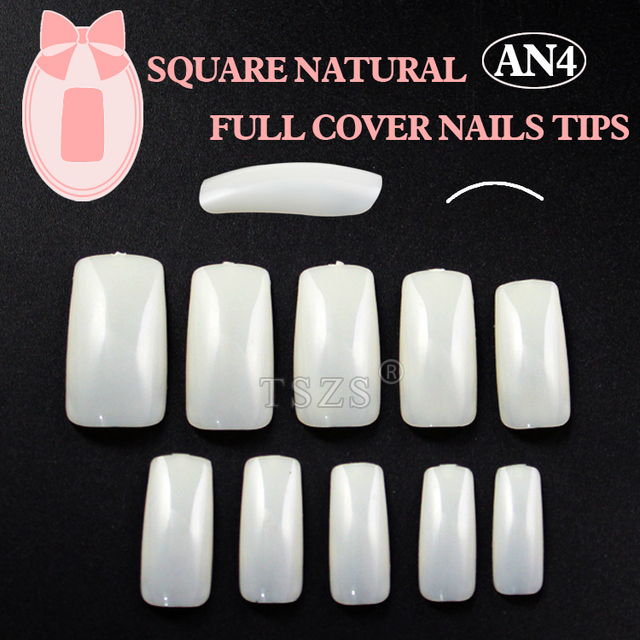 1bags/ lot -500pcs in a bag Natural full cover false nail tips