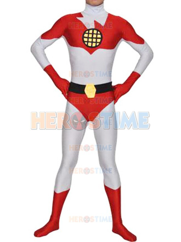 Captain Planet Superhero Costume White Spandex adult halloween cosplay costumes the most classic show zentai suit