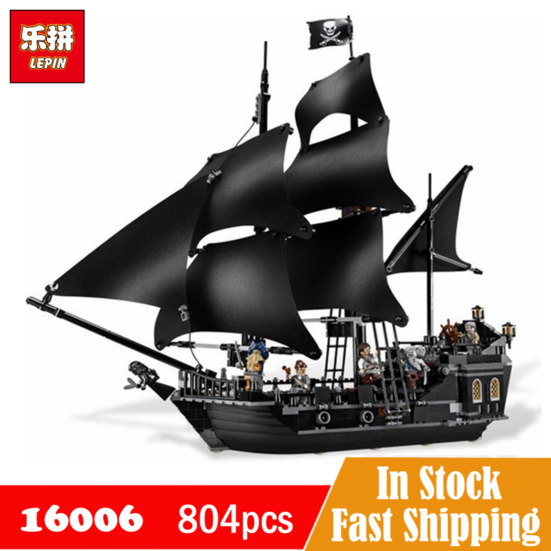 LEPIN Pirates of The Caribbean Jack Sparrows Black Pearl Ship model kit Building Blocks Set Toy Compatible with 4184 Legoe