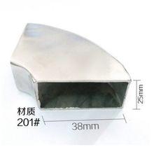 10 шт/лот 25x38 мм 201 # квадратный колено из нержавеющей стали