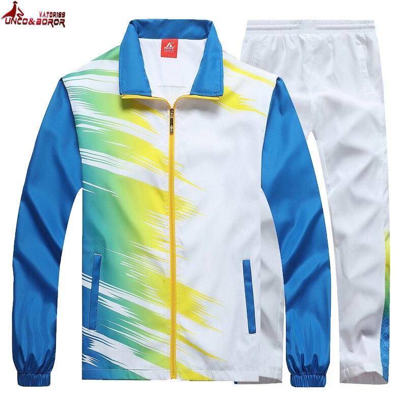 Men`s Sportswear Spring Autumn Sporting Suit Outwear Male Tracksuit Sweatshirt Set Jacket+pant Gradient Color Track Suit Men