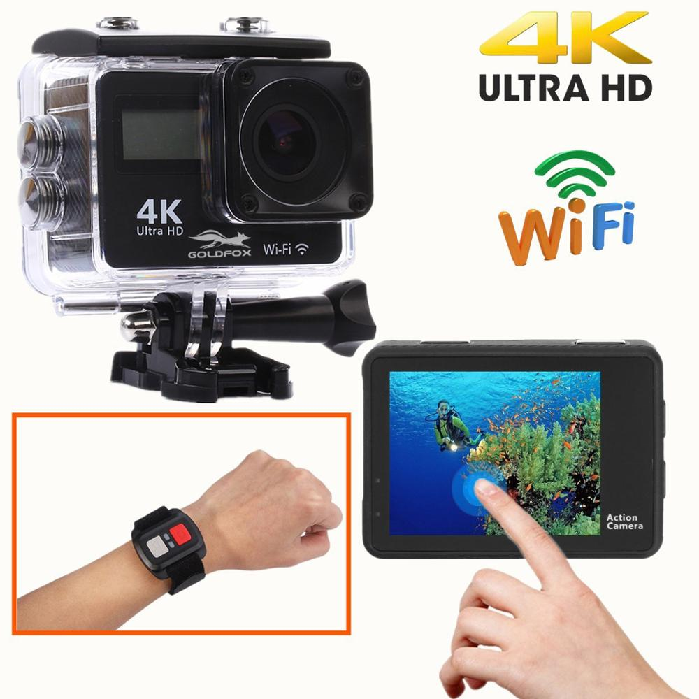 Ultra HD 4K Action Camera WiFi Remote Control Sports Video Camcorder DVR DV Go Waterproof Pro Camera 2 inch Touch Screen Cam-in Sports & Action Video Camera from Consumer Electronics