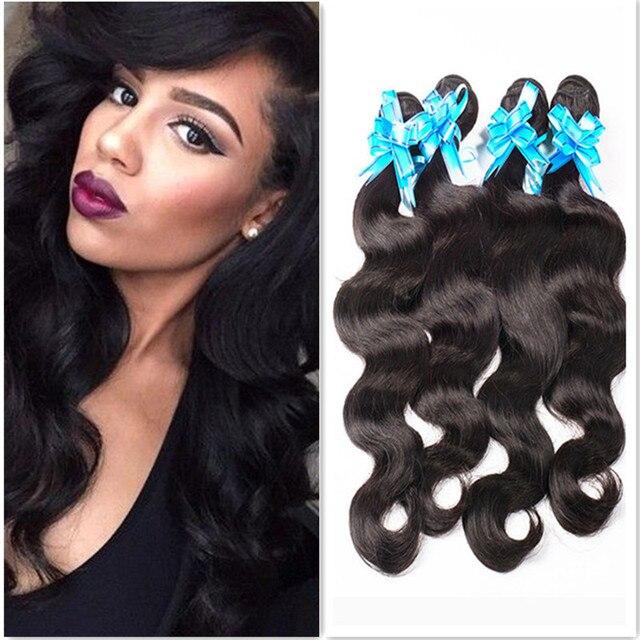 7A Brazilian Virgin Hair 4 bundles Body Wave Cheap Brazilian Hair Weave Bundles 100% Human Hair Weaving Natural Body Wave Weave
