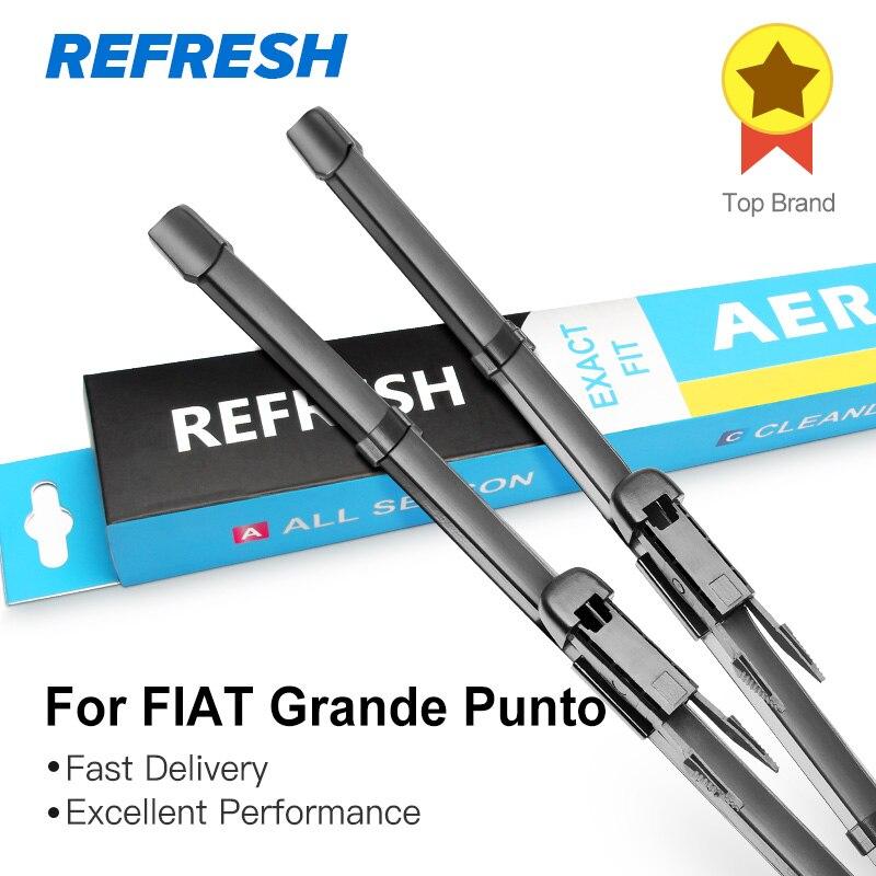 REFRESH Щетки стеклоочистителей для FIAT Grande Punto Fit Pinch Tab Arms 2005 2006 2007 2008 2009 2010 2011