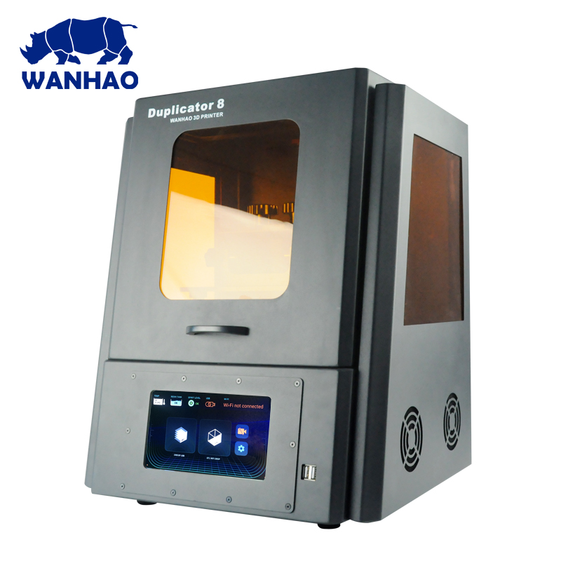 2019 WANHAO manufactory Direct Sales 3D Printer D8 DLP LCD Jewelry Dental Color Touch Screen 405nm UV Resin High Precision WiFi|3D Printers| |  -