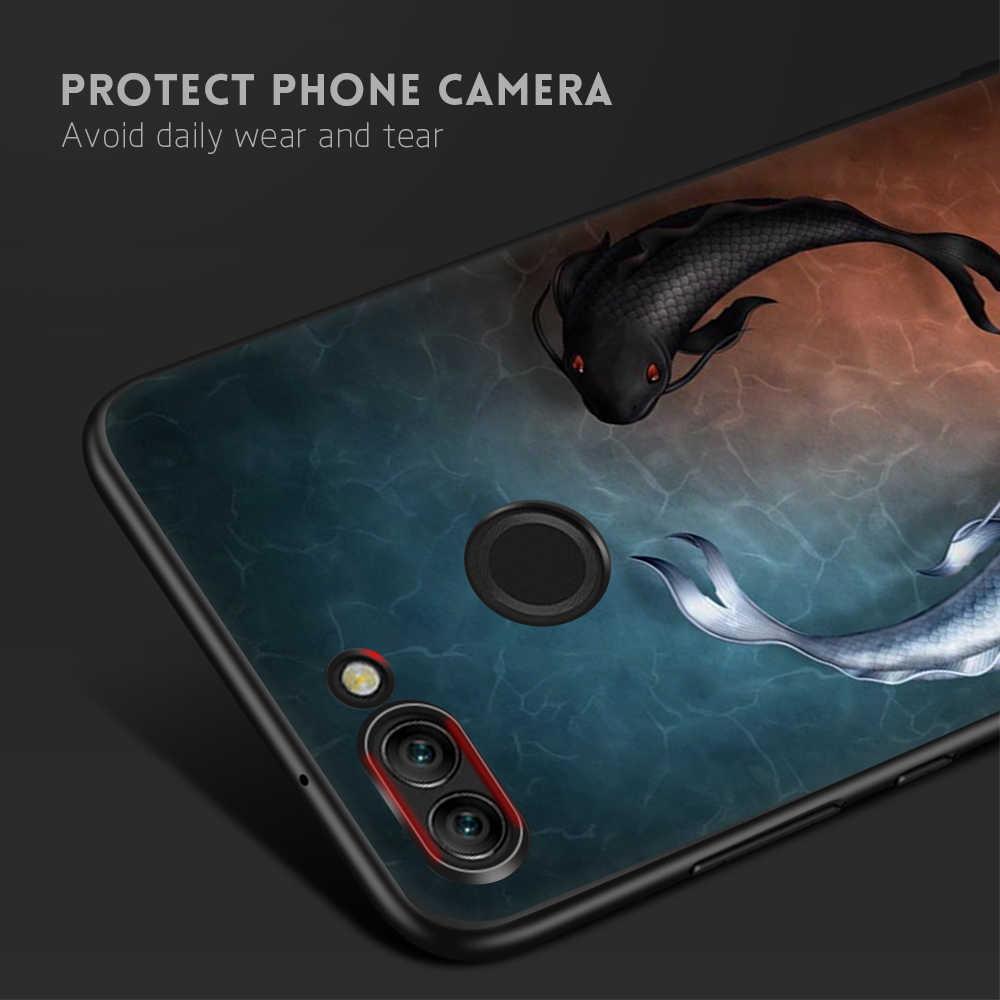 KK PINK Soft TPU Phone Case For Huawei Y9 2018 Enjoy 8 Plus Mate 10 Lite P20 Pro P8 P9 P10 Lite Nova2i Rose Flowers Cover Coque