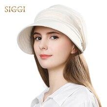 FANCET 女性夏の太陽の帽子バイザーリネンバケツキャップ Packable ワイドつば UPF50 + UB キャップ防風あごストラップファッション 89033