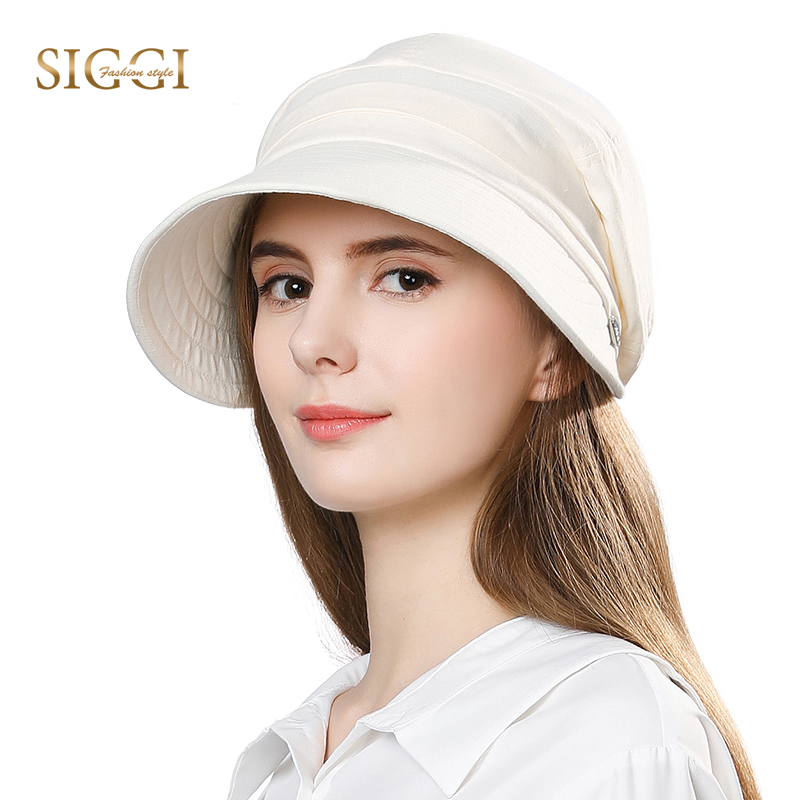 FANCET Wanita Summer Sun Hat Visor Linen Linen Caps packable Wide Brim UPF50 + UB Cap Windproof Chin Tali Fesyen 89033