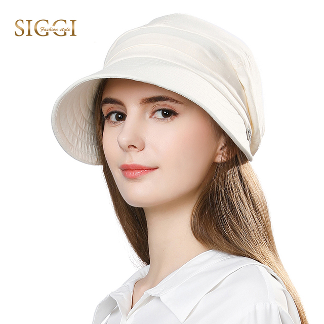 f7a1e3b18d0f7 FANCET Women Summer Sun Hat Visor Linen Bucket Caps Packable Wide Brim  UPF50+ UB Cap Windproof Chin Strap Fashion 89033